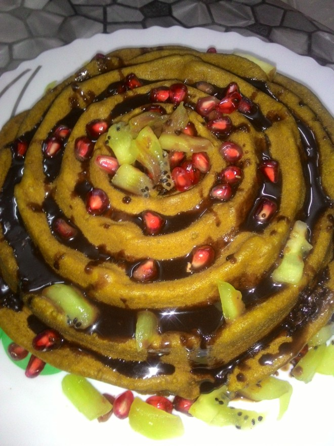 Eggless Pomegranate Cake is Ready