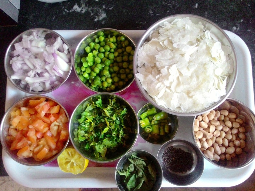 Ingredients Matar Poha