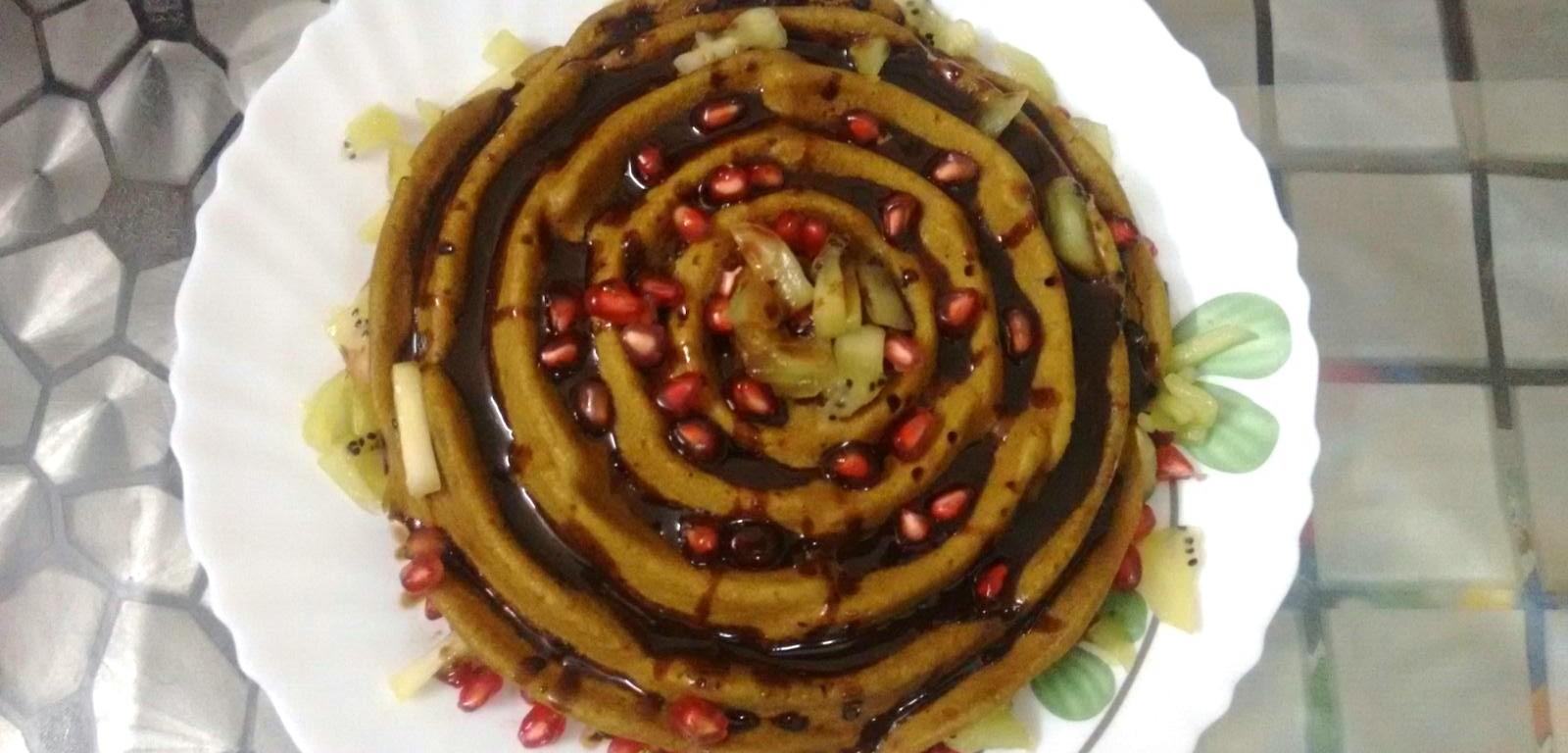 Pomegranate Cake Egless