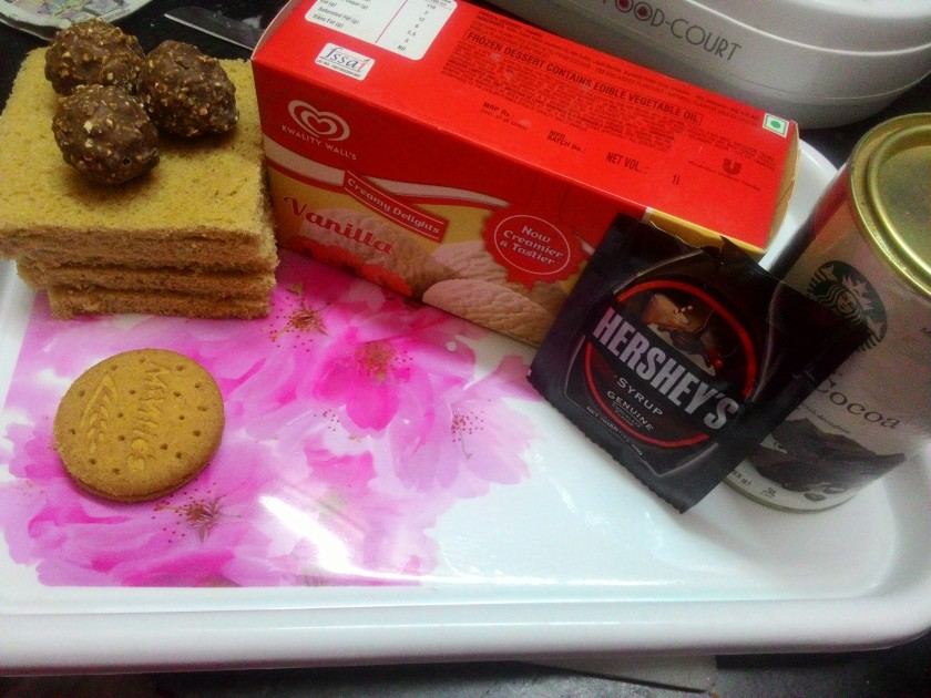 Ingredients for Ice Cream Chocolate Sandwich; Coco Powder had no roles to play in the recipe.