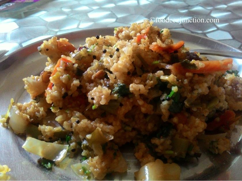 mixed veg dalia upma
