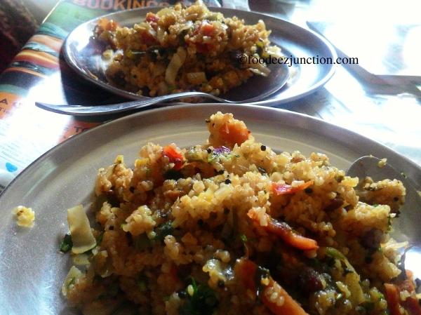 mixed veg dalia upma recipe