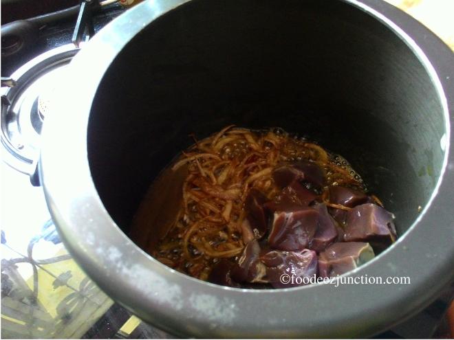 Mutton kaleji recipe
