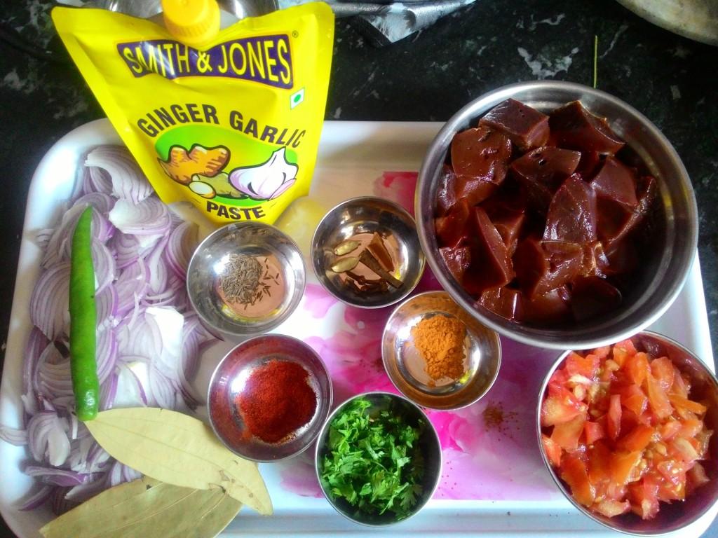 Kaleji Fry Recipe Ingredients