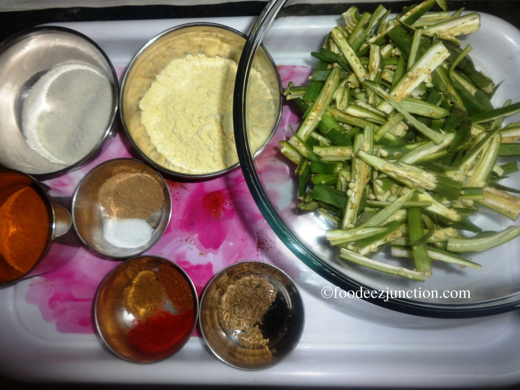 Crispy Bhindi fry Ingredients