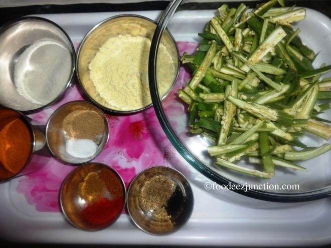 Crispy Bhindi fry Ingredients
