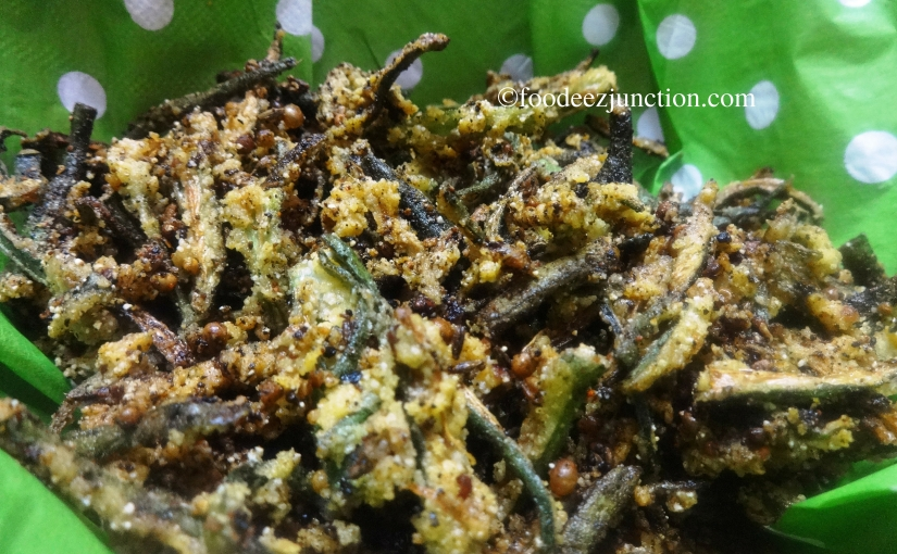 Kurkuri Bhindi Fry Recipe | How to Make Crispy Okra