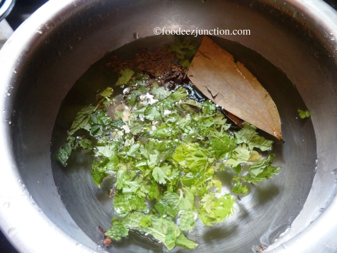 Rice Preparation for Hyderabadi Dum Biryani