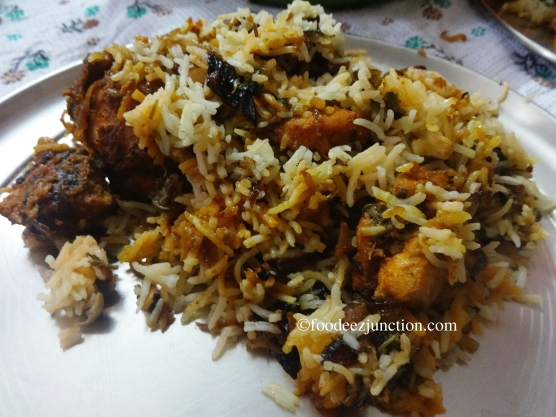 Hyderabadi Chicken Dum Biryani