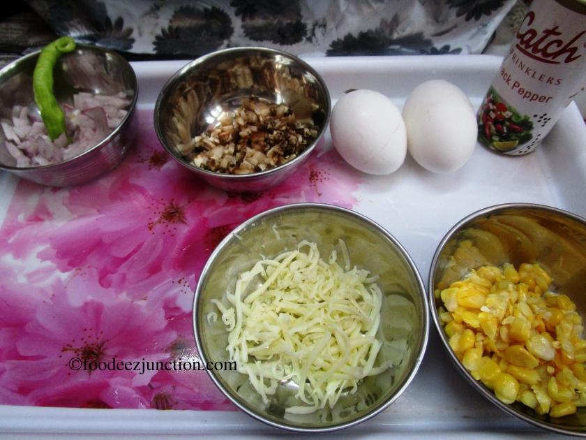 Mushroom Cheese Omelette Ingredients