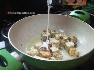 Preparation for Paneer with Coconut Milk