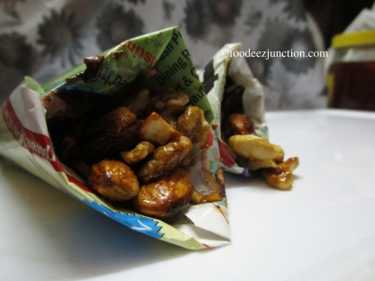 Honey-glazed Roasted Nuts in Paper cones