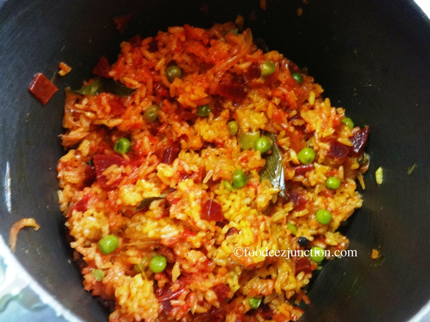 How to Cook Beetroot Biryani in Pressure Cooker