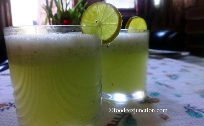 Cucumber Coconut Water Drink for Summer
