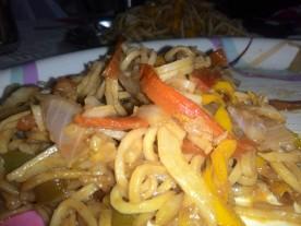 Preparing Chow Mein