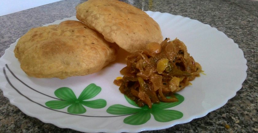 Kachori with Karonda Sabzi