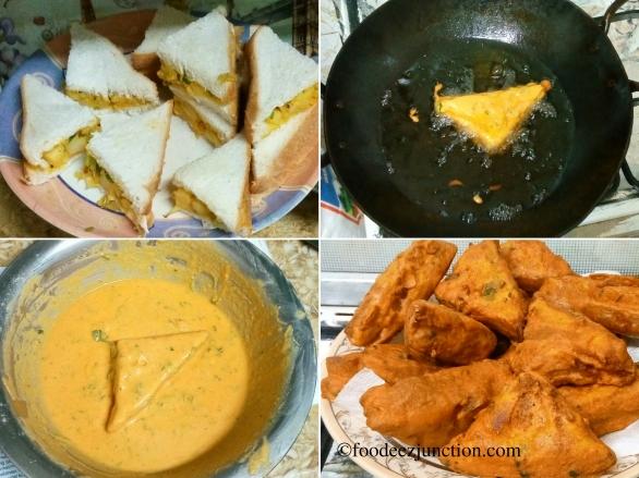 Bread Pakora Foodeezjunction.com