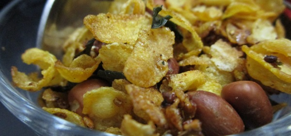 Caramelised Cornflakes Namkeen Mixture Foodeezjunction.com