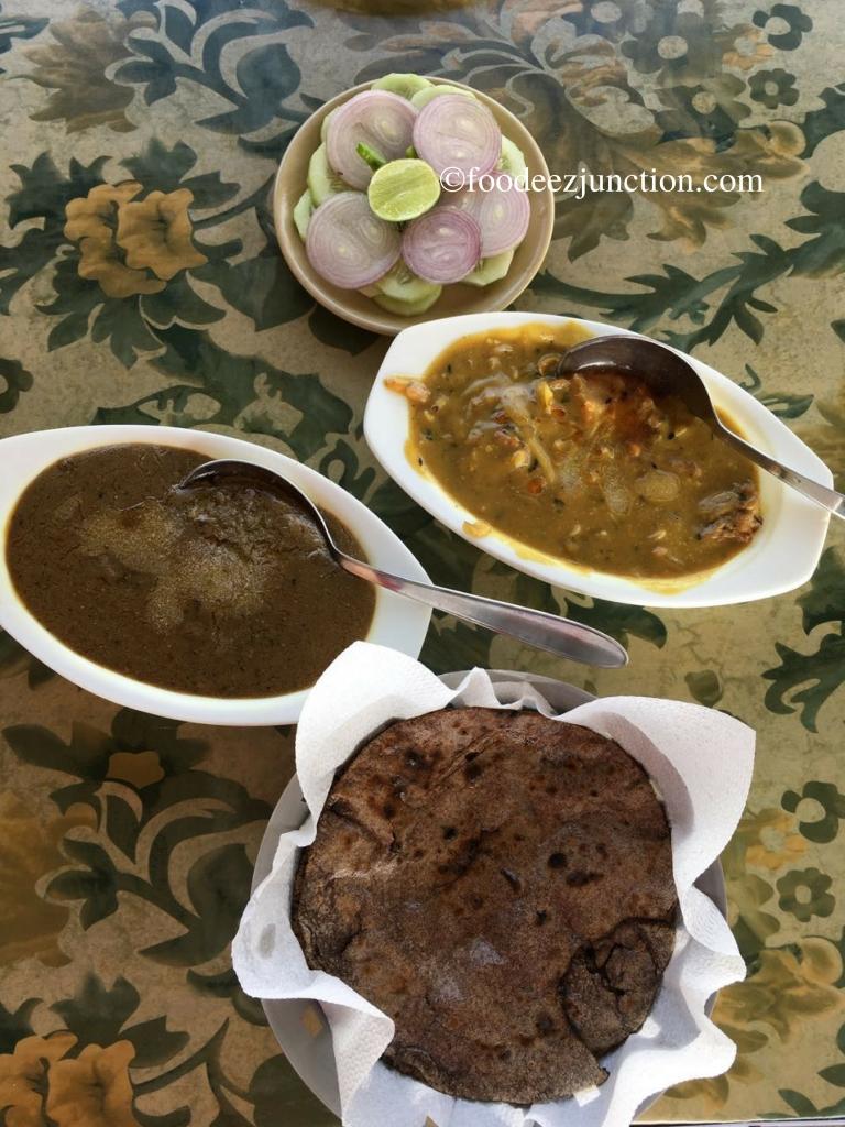 Madua ki Roti, Bhatt ke Dupke and Badee ki Sabzi foodeezjunction.com