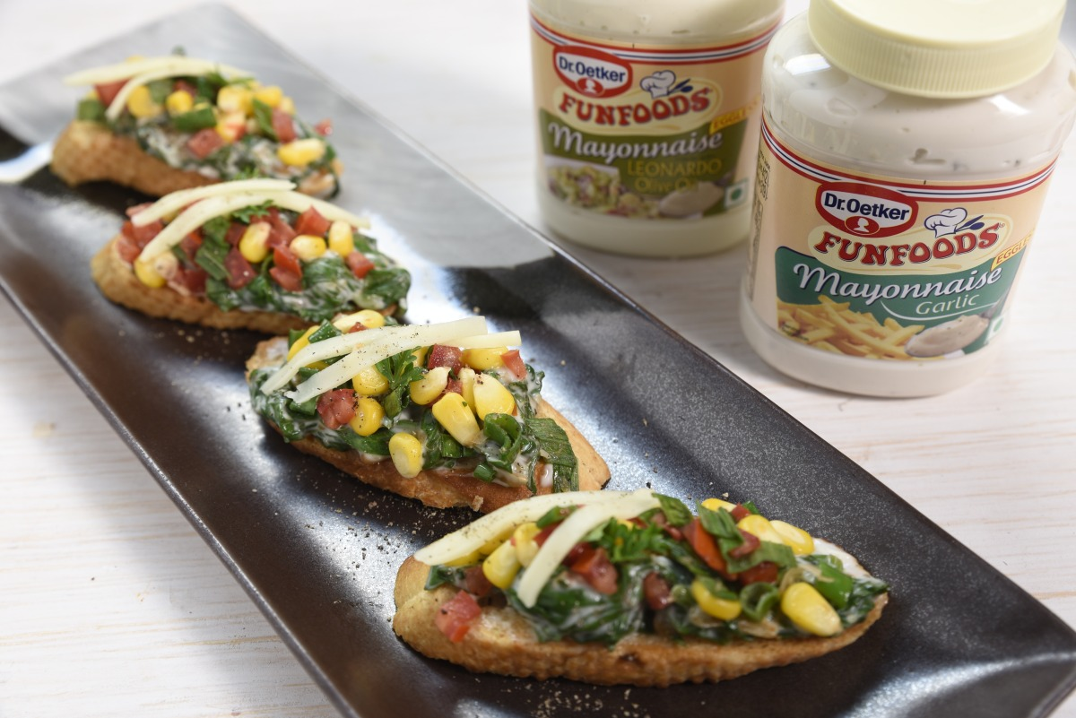 Veg Bruschetta Guest Recipe by Dr. Oetker Foodeezjunction.com
