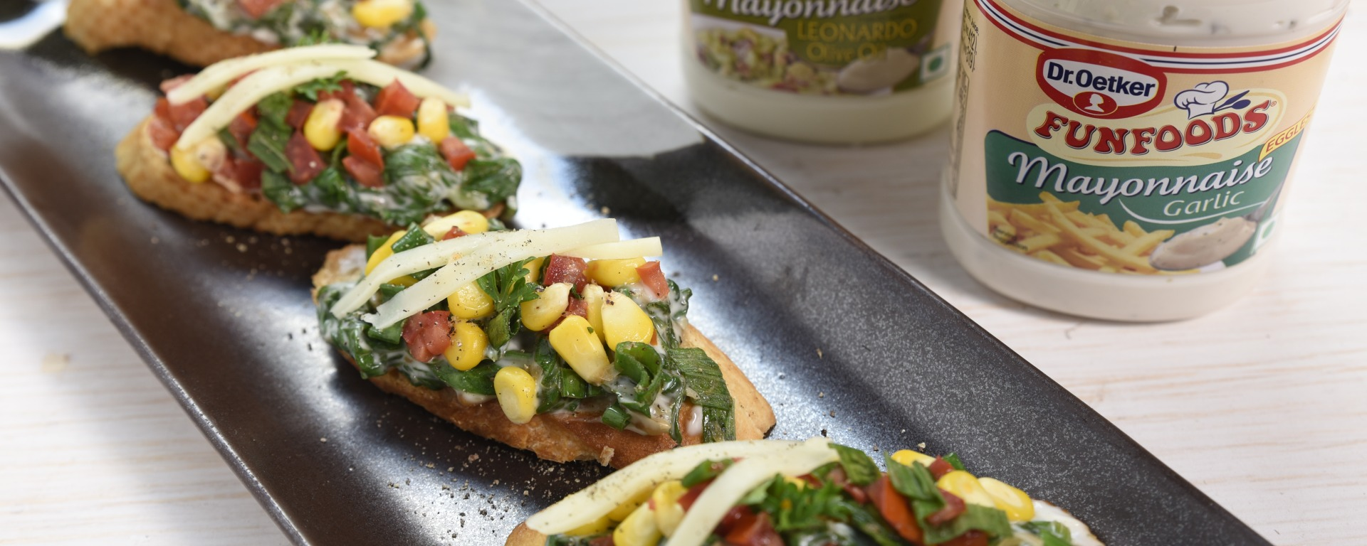 Veg Bruschetta Guest Recipe by Dr. Oetker Foodeezjunction.com
