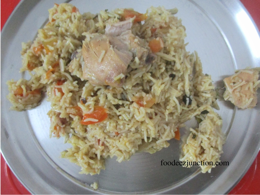 Tamatar Chicken Biryani foodeezjunction.com