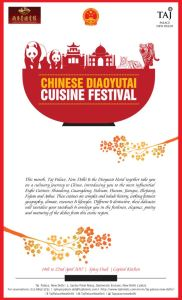 Chinese Food Fest at Taj Palace New Delhi